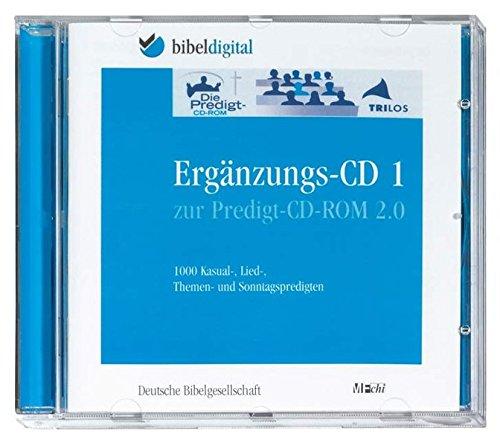 Die Predigt-CD-ROM 2.0, Ergänzungs-CD, 1 CD-ROM1000 Kasual-, Lied-, Themen- und Sonntagspredigten. Für Windows ab 98 (auch Vista