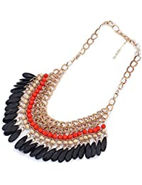 Bold N Elegant Vintage Weave Multilayer Collar Necklace Waterdroplet Clavicle Chain Statement Necklace