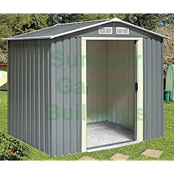 garden sheds shed storage apex roof double door galvanized