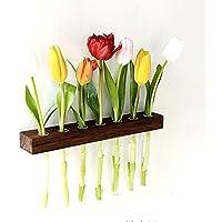 Wandvase Nuss 7er Reagenzglasvase Blumenvase *