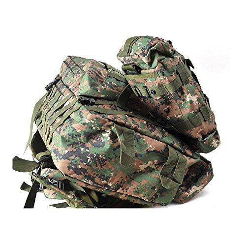 Draußen Taktische Rucksack Schulter Schulter Gehen Wandern Tasche Große Kapelle Rear Duffle Camouflage Pack acu