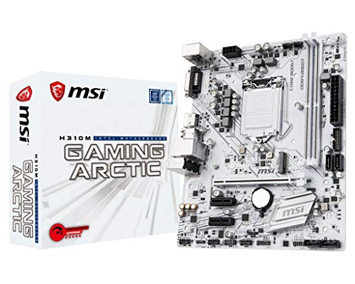 MSI H310M Gaming Arctic - Placa Base Performance Gaming (Larga 1151, 1 x PCI-E 3.0 X 16 Machines à sous, 2 DIMMS, 4 x SATA) Blanc