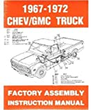 1967 1972 Chevy C/K 10-30 Light Truck Assembly Manual Book...