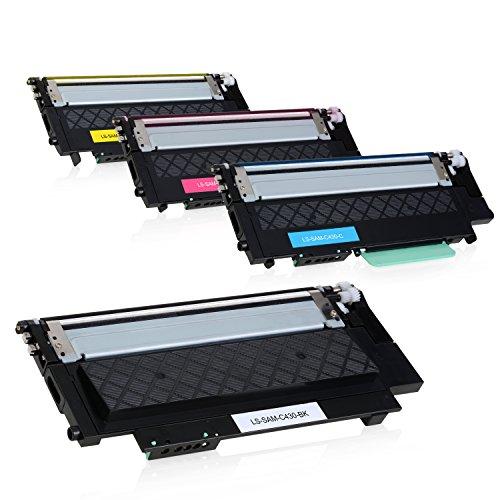 Preisvergleich Produktbild 4 Toner für Samsung Xpress C430W C480W Farblaserdrucker - CLT-P404C/ELS - Schwarz 1500 Seiten, Color je 1000 Seiten