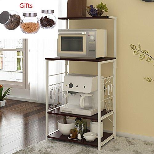 Meuble de cuisine Racks de cuisine de grande capacité Robuste et durable de stockage de cuisine wxp-Armoires et armoires de coutellerie (Couleur : Noir)