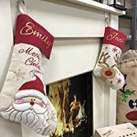 Personalised Santa Stocking, Christmas Present Stocking