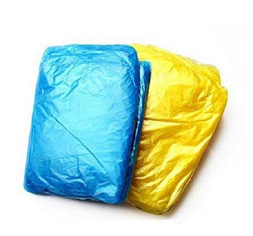 Leichter Regenponcho, 20 Stück transparentes Material, Regenmantel, Einweg, Wegwerf, Regencape, Notfall Poncho, zufällige Farben, von Kobert-Goods