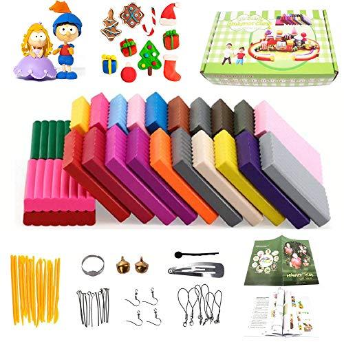GSYXY Polymer Ton 24 Farben Clay, Ofen backen DIY Lehm Moulding Craft, Safe und ungiftig Kinderknete und Werkzeuge, Kinder