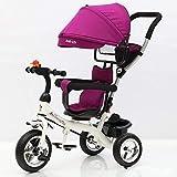 Ambiguity Kinderwagen,Kinder Dreirad 1-3-5 jährige Fahrrad Kinderwagen 62 * 29 * 42