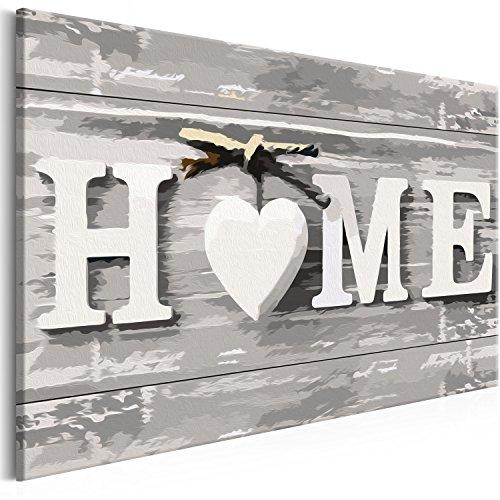 murando - Malen nach Zahlen 2.0 – Bilder Home 60x40 cm – Malset mit Holzspannrahmen - DIY -...
