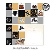 """10 Stk. Gutscheinkarten """"Standard"""" für den Schuhfachhandel, Mode SH1233, LIEFERZEIT 2 bis 4 Werktage !"""
