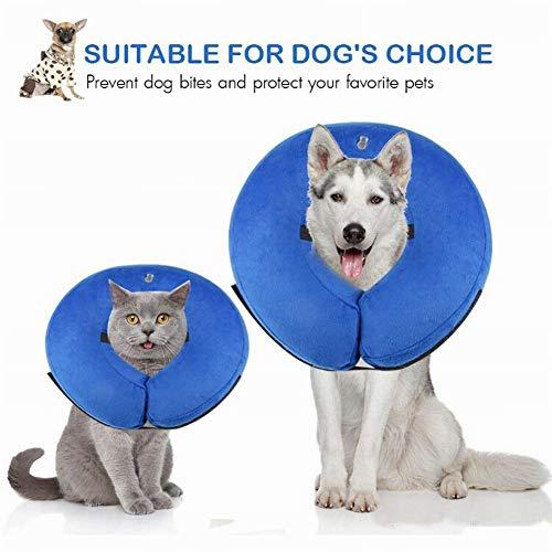 CRAZYON Halsband Hunde und Katzen schützende aufblasbare Soft Pet Recovery Kragen Hundehalsband