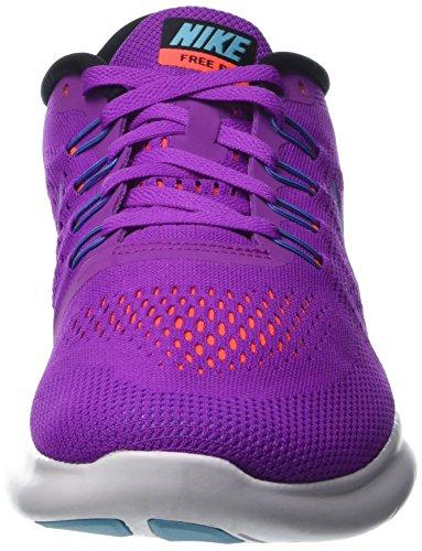 Nike Free Run 831509, Scarpe Running Donna Viola (Hyper Violet/Black/Total Crimson/Gamma Blue)