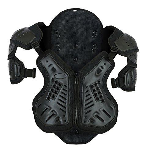 Bikers Gear The Shield Motorrad Rückenprotektor Brust Schulterprotektor Panzer Weste schwarz Größe 2XL -