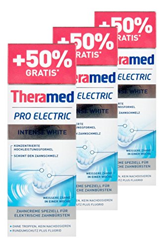 Theramed Zahncreme Pro Electric Intense White, 3 x 75 ml