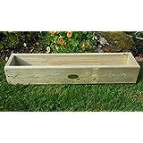 Cubierta Caja de maceta jardinera de madera 90cm hecho a mano cajas de madera tratada a presión macetas. Un jardín de madera maceta