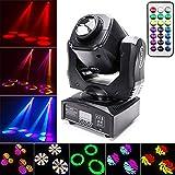 UKing 80W LED Teste Mobili Luci da Palcoscenico DMX512 con Telecomando 3 Prisma Effetto Luce 8 Gobos 8 Colori per DJ Discoteca Illuminazione Serata di Festa Club Party