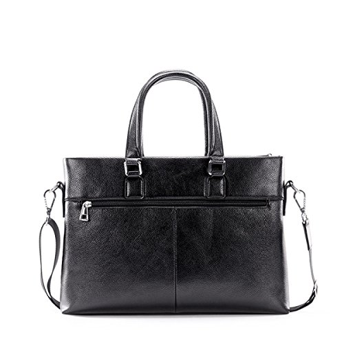 Männer Leder Leder Querschnitt Handtasche Business Aktenkoffer Tasche Schultertasche Messenger Bag Brown