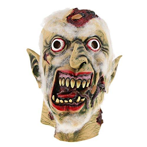 non-brand MagiDeal Halloween Horror Latexmaske Gesichtsmaske Clown Maske Zombiemaske Kostüm Accessoires Auch für Cosplay Karneval und Themenparty - Schimmelige (Zombie Brand Kostüm)