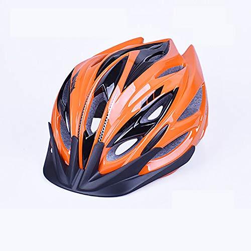 YXDDG Caschi da Moto Montagna di Cinghia Regolabile dail & Strada Ciclismo Biciclette caschi Uomini Donne, Leggero Traspirante Confortevole-Arancione L