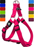 DDOXX Hundegeschirr Step-In Premium Nylon | für große, mittelgroße, Mittlere & Kleine Hunde | Geschirr Hund | Katze | Brustgeschirr | Softgeschirr | Zubehör | Pink, XXS - 1,0 x 26-35 cm