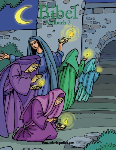 Bibel Malbuch 2: religiöse Malvorlagen vom Alten und Neuen Testament