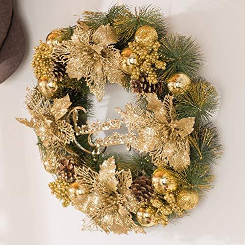 1pcs Guirnalda de Navidad Decoraci/ón de la Fiesta de Navidad Dorada Exquisita Puerta Colgando Ventana Escena Dise/ño Gespout