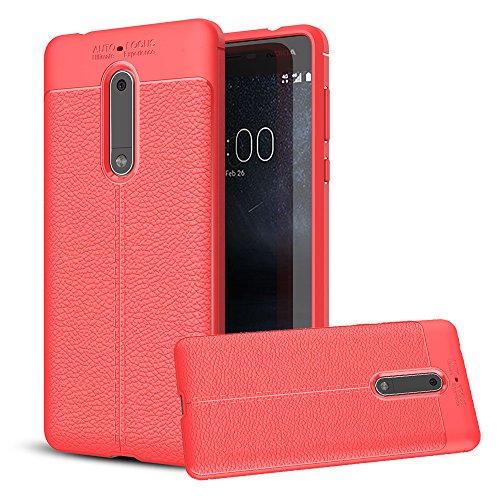 Nokia 5, Coque Bt-share fin Heavy Duty léger Coque souple en silicone résistant aux chocs anti-rayures Housse de protection cuir Texture Skin pour Nokia 5(2017)