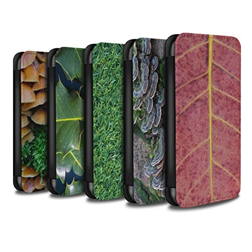 Stuff4 Coque/Etui/Housse Cuir PU Case/Cover pour Apple iPhone 7 / Herbe/Gazon Design / Plantes/Feuilles Collection Pack 8pcs
