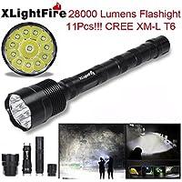 Tongshi XLightFire 30000 lúmenes 12 x CREE XML T6 5 manera 18650 Super brillante LED linterna [Clase de eficiencia energética A+++]