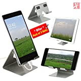 YT Mobile Phone Metal Stand/Holder for Smartphones and Tablet - Sparkle Silver - Pack of 3 Units (Proudly Made in India)