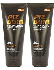 Piz Buin 1 Day Long Duo Sun Lotion Spf 30 LARGE 2 X 200ml = 400ml