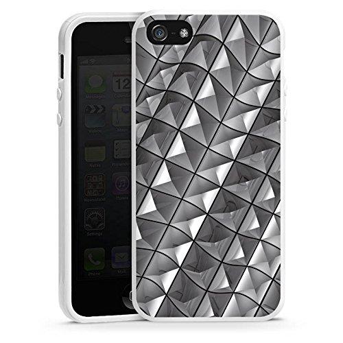 Apple iPhone 4 Housse Étui Silicone Coque Protection Motif Motif Rivets Housse en silicone blanc
