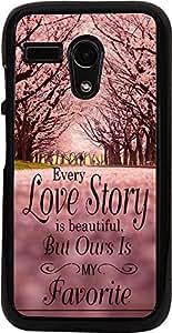 PrintVisa Quotes Lovestory Trees Case Cover for Motorola Moto G X1032