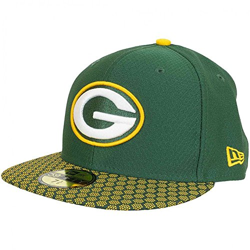 New Era 59Fifty Fitted Cap Onfield NFL17 Greenbay Packers Grün/Gelb - New Era Packers Onfield