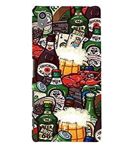 Food and Drinks 3D Hard Polycarbonate Designer Back Case Cover for Sony Xperia Z5 Premium (5.5 Inches) :: Sony Xperia Z5 Premium Dual