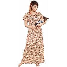 Soulemo Womens 100% Cotton Feeding Nighty / Maternity Dress. 563