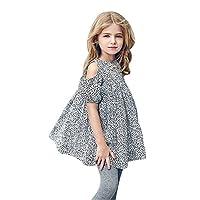 goodjinHH Baby Girl Skirt Set Toddler Kids Girl Leopard Print Dress Pageant Princess Party Dresses Clothes