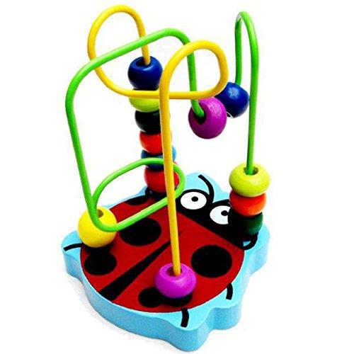 Tongshi Los niños del bebé de madera colorido mini alrededor de bolas de juguete educativo del juego