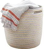 Aufbewahrungskorb Baumwolle Wäschekorb Groß 36x36cm Stabil und Haltbar, Für...