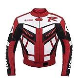 Yamaha Red Racing Leather Jacket - Yamaha Rot Motorrad Lederjacke (M)