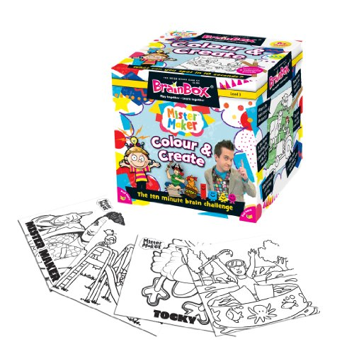Brain Box - Colour and Create, Juego de Mesa en inglés (90024)