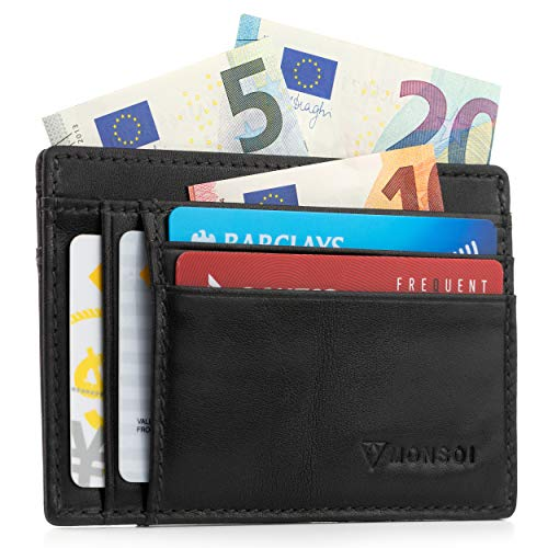¿Cansado de llevar una billetera gastada y voluminosa que ocupa todo el espacio de tu bolsillo?  Nuestra cartera con porta tarjetas de cuero de vaca 100% genuina está hecha a mano y diseñada en España con materiales de la más alta calidad.  El result...