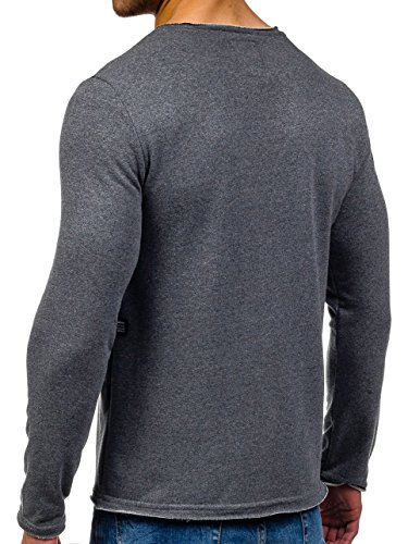 BOLF – Sweat-shirt – Manches longues – U-neck – Homme Anthracite
