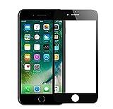 iPhone 6/6s Panzerglas 3D Gebogen Full Deckung, Anti-Kratzen, Anti-Öl, Anti-Bläschen HD Gehärtetem Glas Displayschutzfolie Schwarz