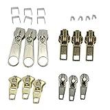 Hellery 22pcs Kits de Réparation de Fermeture Éclair Outils de Réparation de Fermeture Éclair Curseur en Spirale