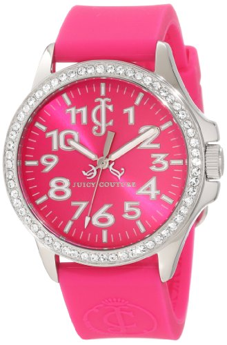 Juicy Couture 1900965 - Reloj para Mujeres, Correa de Goma Color Rosa