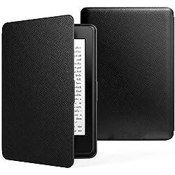 MoKo Etui Amazon Kindle Paperwhite - étui Flip en cuir super fin et léger pour Amazon All-New Kindle Paperwhite, NOIR