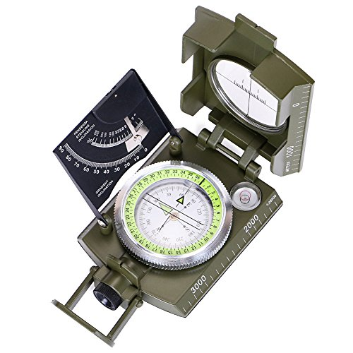 ARINO Camping Boussole Multifonction Professionnelle Orientation Militaire Portable avec...