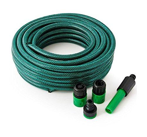 Garden hose Tuyau 10 m 12 mm avec Kit de lance réglable et adaptateurs
